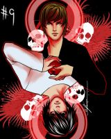 Day 9: Light Yagami and L by cynthiafranca
