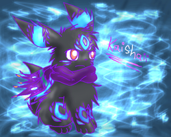 My New OC- Kaishaii The Umbreon by Eevora