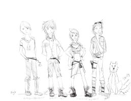 Crappy draft of characters by NutellaMutt