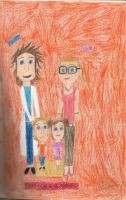 Flint, Sam, and their kids by daisyplayer1