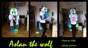 Aslan the wolf fursuit comission by Mariannj