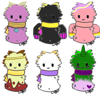 My MLP Characters as Scarfblobs!! by Katwyn-Lauryl