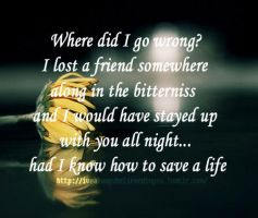 Had I Known How To Save A Life by twihardBreakingDawn