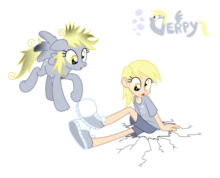 Derpy - Pony/ Human by Trinityinyang