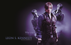 Leon S. Kennedy RE6 Wallpaper by BriellaLove