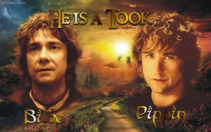 Bilbo and Pippin by LadyCyrenius