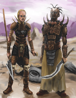 Post-apocalyptic Tribal Warriors by Crowsrock