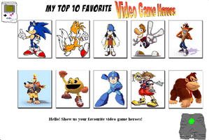 Top Ten My Videogame Heroes by SuperMarcosLucky96