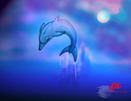 ADL: Dolphin at night by 71ADL17