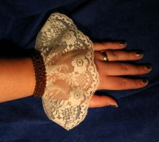 White Cuff with Brown by turnerstokens