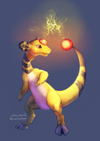 day 4, favorite electric type: ampharos by mercurybird