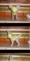 poseable Jolteon WIP by VengefulSpirits