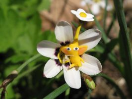 Yellow Pikmin on Lily by Rutela