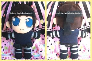 Solid Snake PSX plushie by VioletLunchell