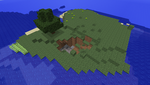 Minecraft 1.8.1 survival island seed by Tryzon
