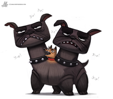 Daily Painting 884. Cerberus by Cryptid-Creations