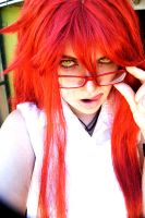 Grell - Make up + Wig by REQ-Flames