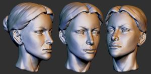 Zbrush female head practice 2 by ebagg