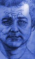 Blue Bill Murray by TamaraKane