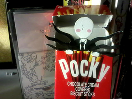 Always Eating Pocky...No Mouth by Walwa