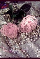 Pink roses by beads-poet