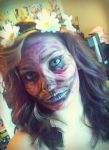 Quick Purple Skull Makeup by ZombieLolitaPrincess