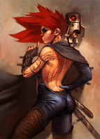 Space Pirate - Elaine by giorgiobaroni