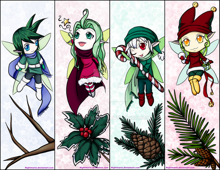 Winter fairy bookmarks! by Nightmaria