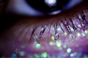 Little Wet Stars on my Eyelashes by SheilaBrinson