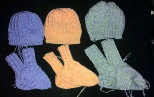 Socks and hats for my nieces by KnitLizzy