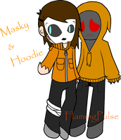Masky and Hoodie by FlamingPulse