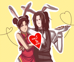 NejiTen Bunnies at your service :D by BayneezOne