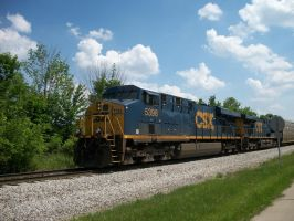 CSX ES44DC's on the move by LDLAWRENCE