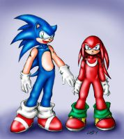 Sonic e Knuckles by cuteychao