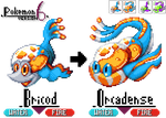 GBA Pkmn hack:Pkmn 6 - Fluorescent Fiery Fishes by dragon-du-22