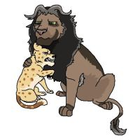 Lion and Cub Adopt: CLOSED by Dragons-Stuff