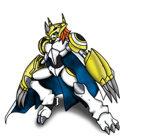 Colored KnigticGreymon by netro32