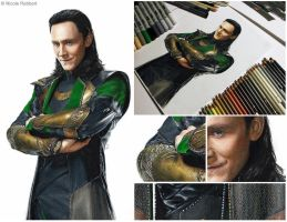 Loki (drawing - details) by Quelchii