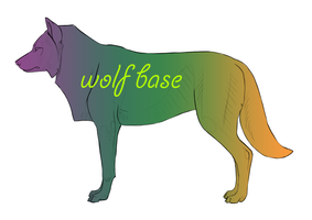 Wolf/canine BASE + PSD by NorthernRed