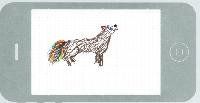Rainbow Tail Wolf by smilano