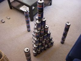 3D stack of cans by VelocitySnyper