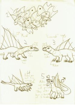 Ilterai Concept Sketches by SlightlyWinged