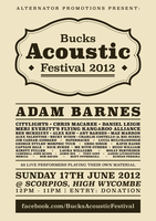 Bucks Acoustic Festival Poster by nickbyrnedesign