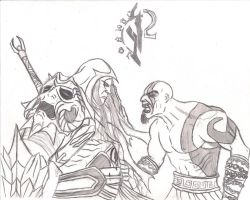 War Vs Kratos by Dread555