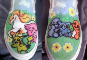 Pokemon Shoes by TheCagedBird