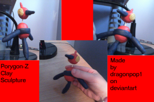 Porygon-Z Clay Sculpture by dragonpop1