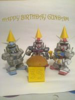 Happy birthday Gundam! by daigospencer