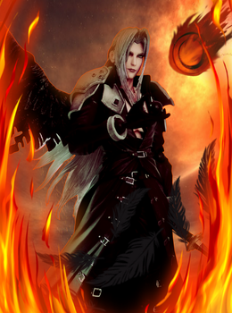 Sephiroth Play Arts KAI 6 by FFSteF09