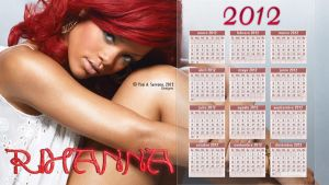 Calendario 2012 Rihanna Red by AnnieSerrano
