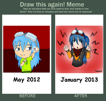 Meme  Before And After - Niwatori by SpookyChester